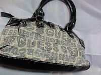 New Guess Ladies Handbag Shoulder Bag with Case Black Beige