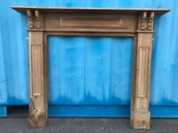 Vintage Reclaimed Pine Fire Place Fireplace Architectural Surround