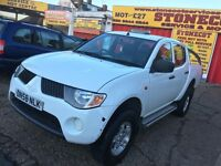 2009 MITSUBISHI L200 2.5 DIESEL WHITE FULL BLACK LEATHERS 1 OWNER FROM NEW HPI CLEAR