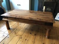Solid wood coffee table - £45, collection only (SE15)