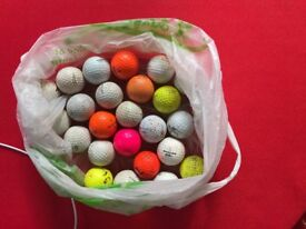 25 assorted golf balls Free to a new home