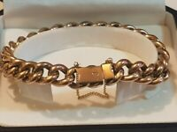 STUNNING ANTIQUE 9CT GOLD VICTORIAN BRACELET VERY RARE TO COME BY 1880s VERY PRETTY ONE OF THE KIND