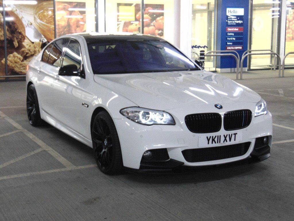 bmw 5 series 520d m sport 20 alloys quad exhaust black roof alpine white fsh hpi clear. Black Bedroom Furniture Sets. Home Design Ideas