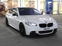 "BMW 520d M Sport F10, Auto, 20"" Alloys, Quad Exhaust, Black Roof, Alpine White, FSH, HPI Clear"