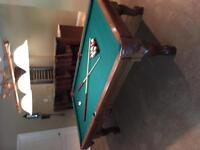 Pool Table, Cues & all Accessories