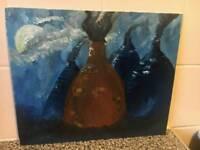 Bottle kiln oil painting