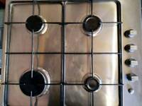 Zanussi ZGL642TX 58cm Wide Four Burner Gas Hob In Stainless Ste