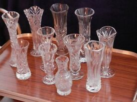 Various vases used for wedding