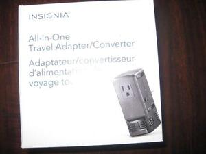 Insignia All-in-1 Travel Adapter / Converter. NEW