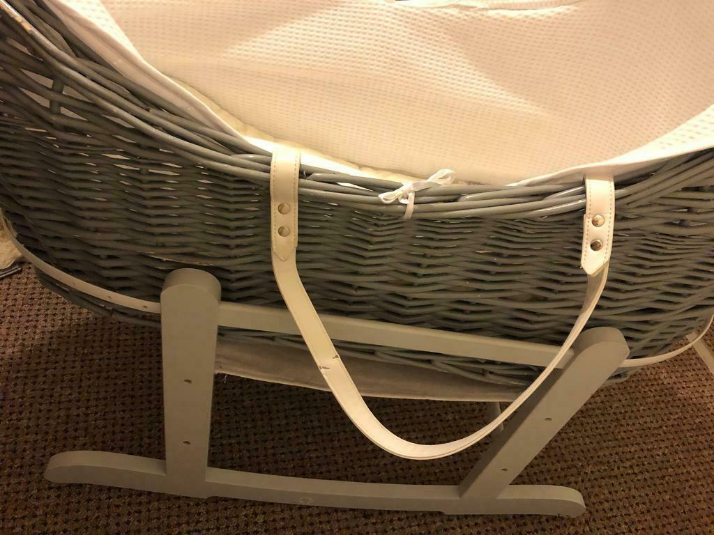 Grey Moses Basket In Featherstone West Yorkshire Gumtree