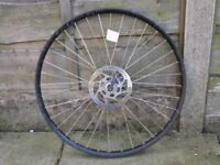 Shimano 26 inch Mountain bike MTB front wheel for disk disc brakes only - spline fitting