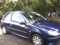 PEUGEOT 206 1-4S 3-DOOR 2004 (53 PLATE) MARCH 16th 2019 MOT WITH NO ADVISORIES, GOOD SOUND CONDITION