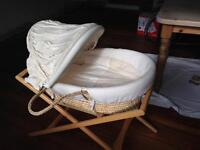 Moses basket with Mamas and Papas stand