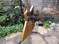 Tokai Explorer guitar, gold