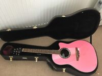 Applause ovation electro acoustic guitar + hard case