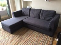Corner sofa - slate grey - completely removable and washable covers