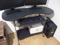 Reversible Folding Corner Desk - £40