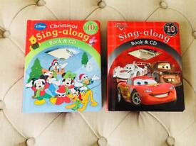 Disney characters and Pixar cars sing along books