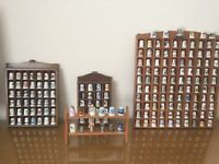 Thimbles 182 IMMACULATE world wide collection some rare. Complete with all wooden display units