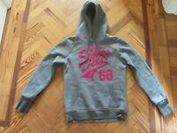Women's grey Superdry hoodie, size S, good condition