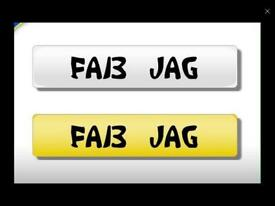 FAB JAG private registration plate
