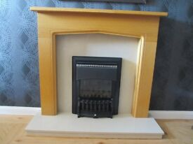 Valor Gas fire with fire surround and hearth
