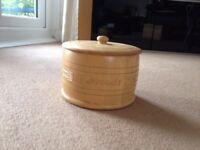 Wooden Biscuit Barrell