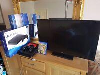 "£400- 1TB Playstation 4 slim, 2 Controllers + Fifa 17 + New 32"" Bush Smart LED TV Bundle - £400"
