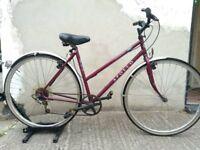 Ladies Legend town & trail hybrid bike in red Bristol Upcycles Used bike shop