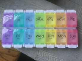 Pill Box Organiser 7 day for AM and PM