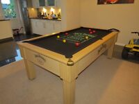 Jack Daniel's 6ft Pool Snooker Table - Doubles As A Dining Table - For Man Cave!