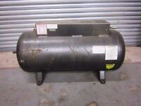 Horizontal compressor air tank, air receiver. About 120 litres
