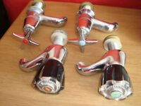 Vintage hot and cold water taps