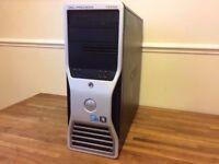 Dell T5500 WORKSTATION intel XEON E5503 - 12 GB Ram - 500GB - NVIDIA Quadro Graphics - Desktop PC