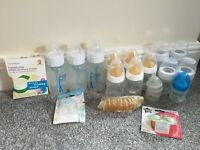 Bundle Of Baby bottles and other items