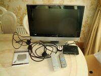 19ins HD Ready LCD/DVD Combi Analogue Flat Screen TV with Nikkai Digital Converter