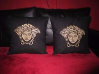 Embroidered Quilted Gold Medusa Set - 2 x pillow case