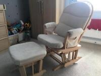 The Haywood reclining rocking chair and stool