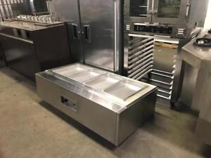 4 well counter top hot steam table 61 by 32 ( like new ! ) rare to find , only $1150