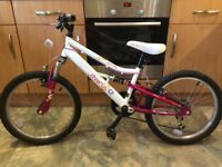 "Girls Apollo Charm bike from Halfords. 20"" wheels."
