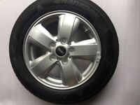LIKE NEW MINI F56 COOPER ALLOYS WITH HANKOOK KINERGY eco 175/65r15 TYRES