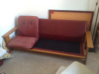 Retro Vintage 1960's / 70's sofa frame with foam seating £150