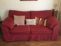 FREE 2 red sofas! Collection only.