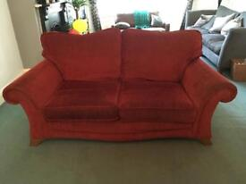 Red 3 person sofa