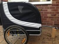 dog trailer, only used twice, in excellant condition, coll from stockport.