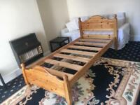 Good condition wooden single bed £40.00