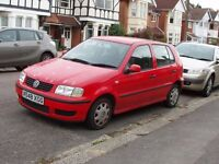 VW Polo 2001, 220,000 miles, spares and repairs. MOT till july, one owner, needs £900 repairs.
