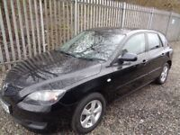 MAZDA 3 1.6 TS 2008 PETROL 5 DOOR BLACK 57,000 MILES M.O.T 10/04/19 EXCELLENT CONDITION *LOW MILES*