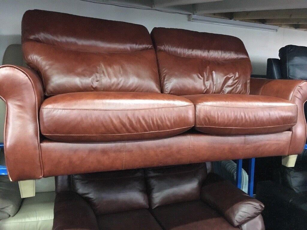 New / Ex Display Harveys Orkeny Leather 3 Seater Sofa