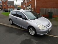 AUTOMATIC HONDA CIVIC 1.6 PETROL 3 DRS HATCHBACK NO OFFERS NO SWAP CASH 02476880585 NO SILLY CALLER